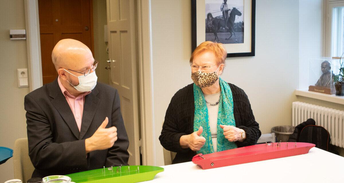 Syysvierailu presidentti Tarja Halosen toimistolla