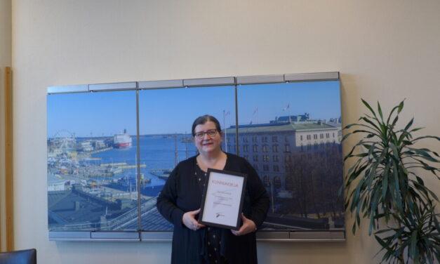 Kultakantele-tunnustus Susanna Heinoselle