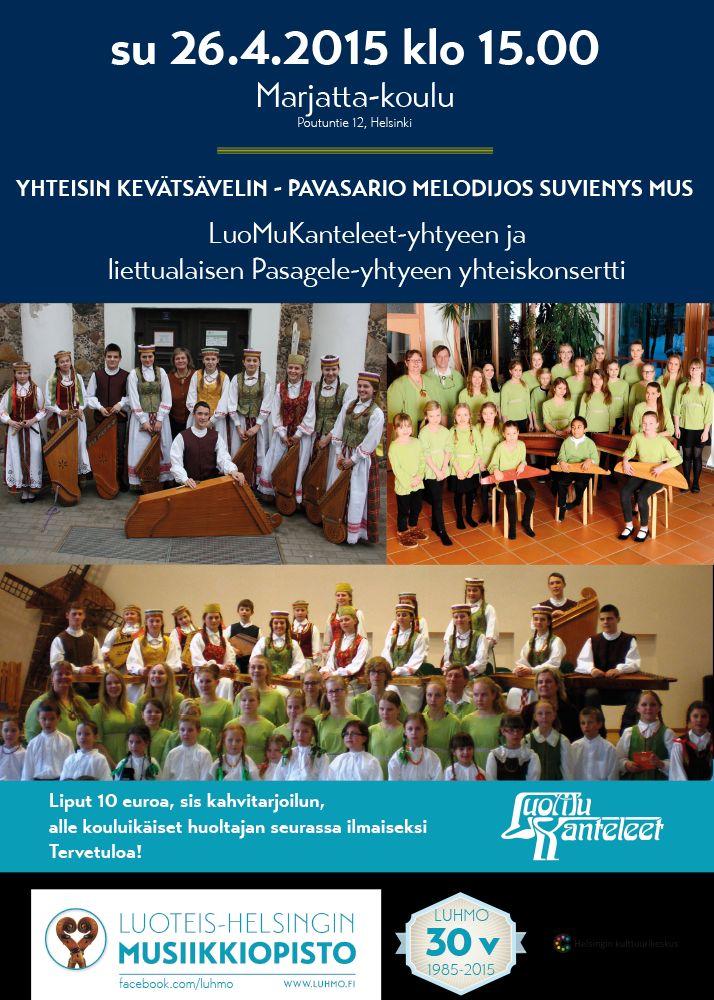Suomalaista ja liettualaista kanteleensoittoa Helsingissä 26.4.