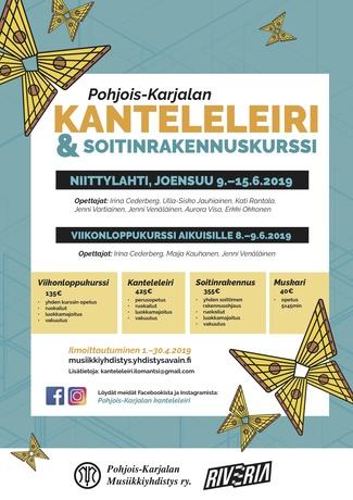 Pohjois-Karjalan kanteleleiri 9. – 15.6.2019